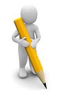 Hombre 3D sujetando un lápiz | Redacción SEO, La Clave Para El Éxito En La Internet