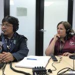 De izquierda a derecha el Dr. Víctor Huérfano y Glorimar Gómez| Terremoto, Una Posibilidad Real En El Caribe | Hablando De Tecnología