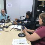 De izq. a der: Orlando Mergal, Dr. Víctor Huérfano y Glorimar Gómez | Tsunami, Cuando El Arropa Todo A Su Paso | Hablando De Tecnología