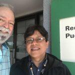 Foto de Orlando Mergal y el Dr. Víctor Huérfano| Terremoto, Una Posibilidad Real En El Caribe | Hablando De Tecnología