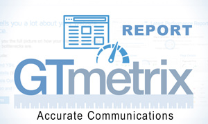 Informe de GTMetrix de Accurate Communications | Aumenta La Velocidad de Descarga de Tu Sitio De Internet