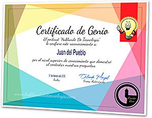 Certificado de genio